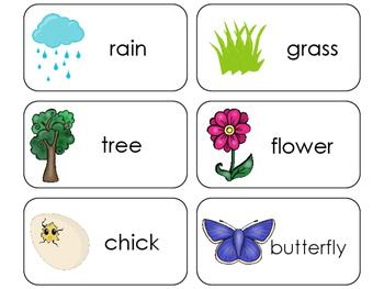 11 Spring Beginning Stages Flashcards. Preschool-1st Grade