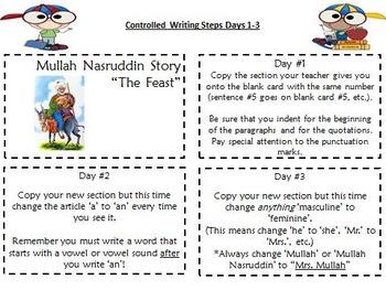 "ESL Writing Workshop ""The Feast"" (ESL Guided Reading)"