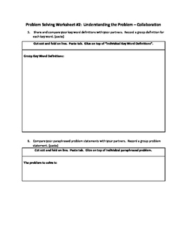 11 Step Process of Problem Solving Using Interactive Notebooks