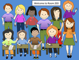 11 Students (Clip art) in png format