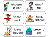 11 Synonyms Printable Flashcards. Preschool-1st Grade