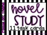 11 Task Cards for Novel Study (Focus: Theme) Growing Bundle