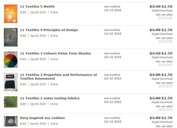 11 Textiles Year long course resources