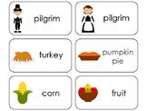 11 Thanksgiving Printable Flashcards. Preschool-1st Grade