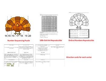 11 Thanksgiving Math / Literacy Activities for Centers and Early Finishers