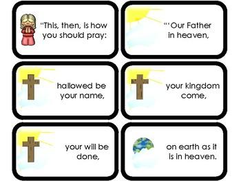 11 The Lord S Prayer Printable Flashcards Preschool Elementary Bible Study
