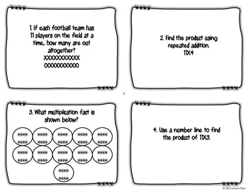 11 Times Table Task Cards