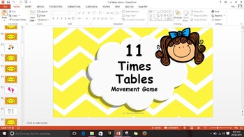 Multiplication 11 Times Tables Game / Brain Break
