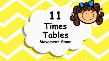Multiplication 11 Times Tables Game / Brain Break