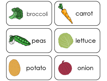 11 Veggies Beginning Stages Flashcards. Preschool-1st Grade