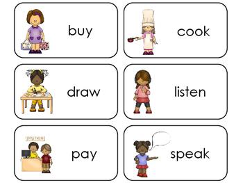 11 Verbs Beginning Stages Flashcards. Preschool-1st Grade