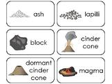 11 Volcano Printable Flashcards. Preschool-3rd Grade