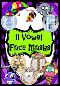 11 Vowel Face Masks