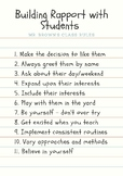 11 Ways to Build Rapport with Students