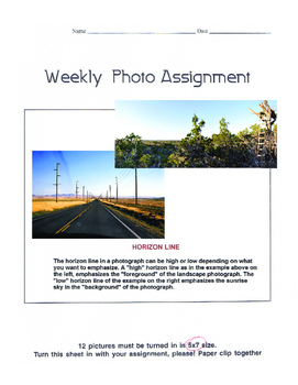11 Weekly Photo Assignments