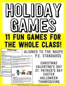 Holiday Games for the Classroom or Physical Education Class