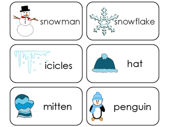 11 Winter Beginning Stages Flashcards. Preschool-1st Grade