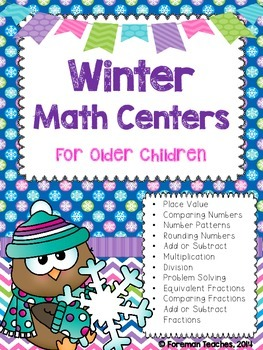 11 Winter Math Centers for Older Children