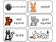 11 Woodland Animals Beginning Stages Flashcards. Preschool-1st Grade