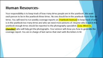 11 Yearbook Staff Jobs