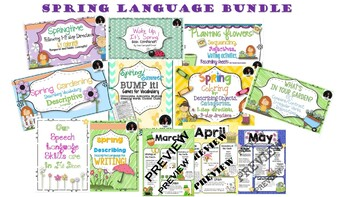 Spring Language Bundle: EET, Vocab, Following Directions, & more