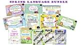 Spring Language Bundle: Describing, Vocab, Following Directions, & more