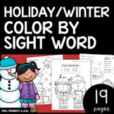 HOLIDAY/WINTER COLOR BY SIGHT WORD!