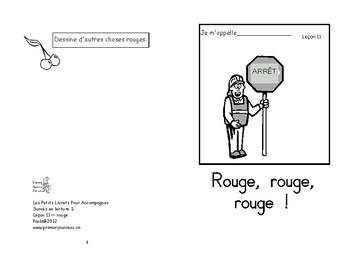 11) rouge  - livret de lecture ENFANT C1 Mat. et 1ère