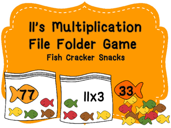 11's Multiplication File Folder- Cracker Fish Snacks