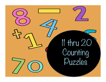 11 thru 20 Counting Puzzles