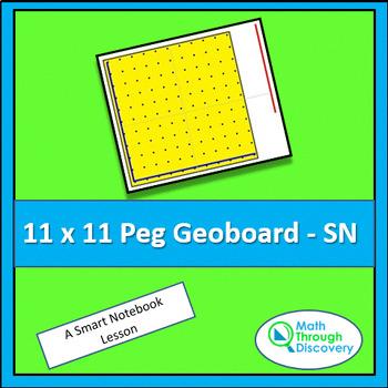 11 x 11 peg Geoboard