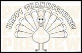 "11"" x 17"" Happy Thanksgiving! Poster/Placemat"