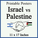 Israel vs Palestine Posters - Blank and Filled - Easy-to-P