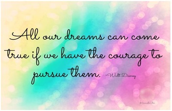 11 x 17 Poster- Motivation- All Our Dreams Can Come True Counseling