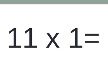 11 x Multiplication Flash Cards ppt