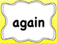 110 Dolch List Sight Words / High Frequency Words: Polka Dots - A to M