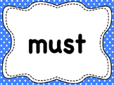 110 Dolch List Sight Words / High Frequency Words: Polka D