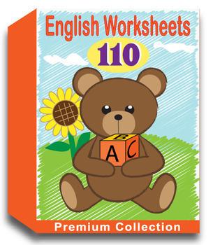 English Worksheets for Kindergarten (110 Worksheets)