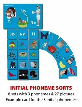Initial Phoneme Sort Manipulatives
