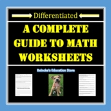 112 Math Worksheets for 5th or 6th Grade (Decimals, Fracti