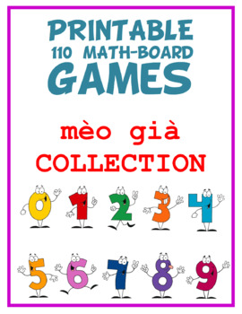 110 Prinable Math-board Games for back to school for all grade