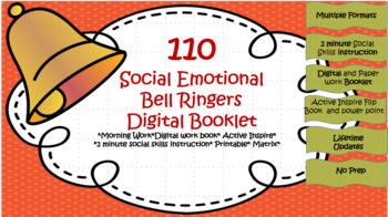110 Social Emotional Bell Ringers with Digital workbook