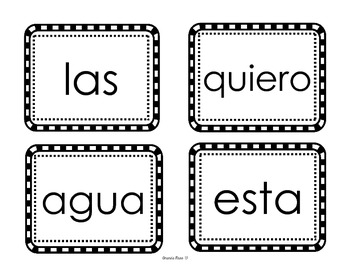 110 Spanish Sight Word Cards - Helps with Student Achievement!