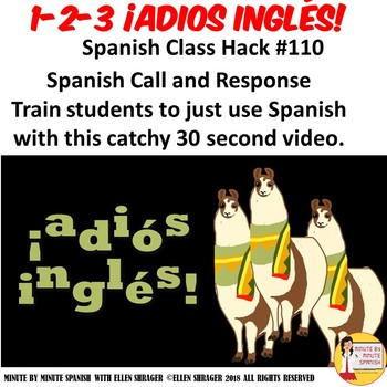 110 Spanish Video Spanish Call and Response Rejoinder 123 adiós inglés Video