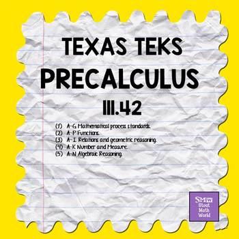 111.42 Precalculus TEKS