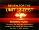 UNIT 13 LESSON 8. Cold War Test Review POWERPOINT