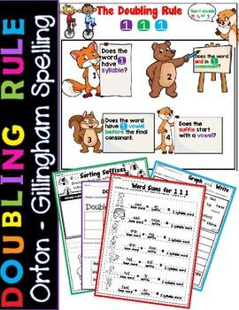 Doubling Rule Worksheets Orton Gillingham Spelling