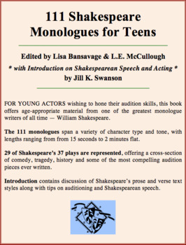 111 Shakespeare Monologues for Teens