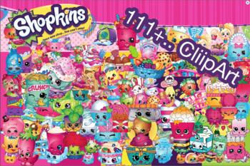 111+.. Shopkins ClipArt - Digital , PNG, image