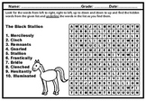 111 Stories and Poems' Vocabulary Word Searches for Grades
